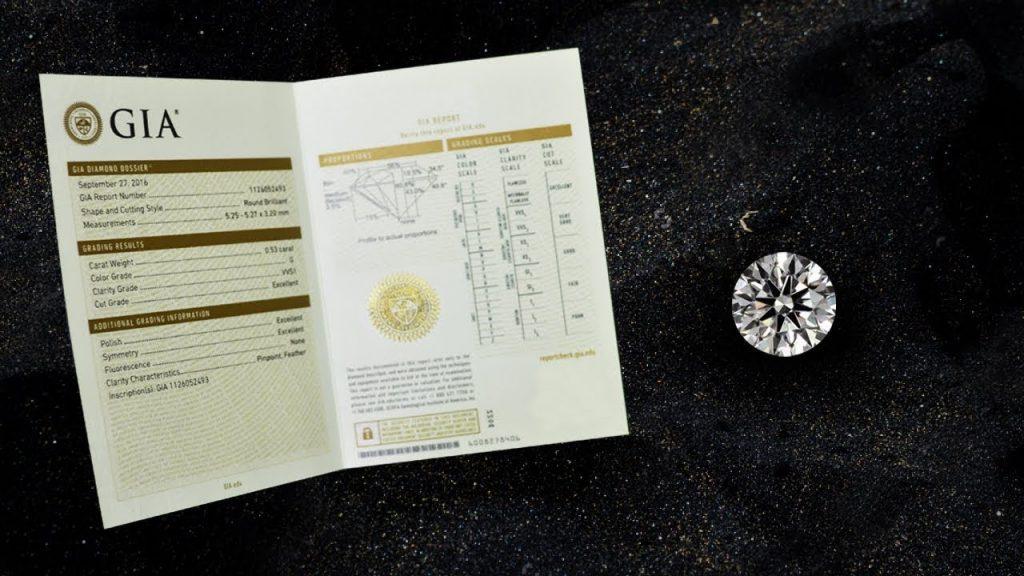 GIA Report - Loud Love Jewelry