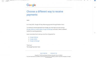 Google western union stop or shut down notice