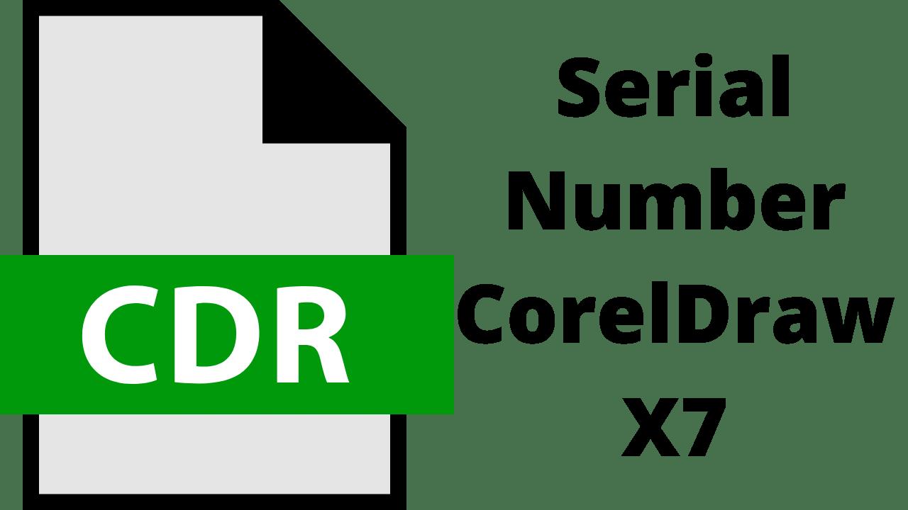 Serial Number CorelDraw X7
